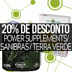 20% OFF Power Supplements / Sanibras / Terra Verde